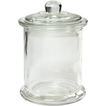 Opbevaringsglas med låg diameter 8 cm højde 14,5 cm 330 ml - 10 stk.