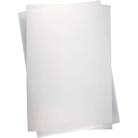 Krympeplast, ark 20x30 cm, blank transparent, 10ark
