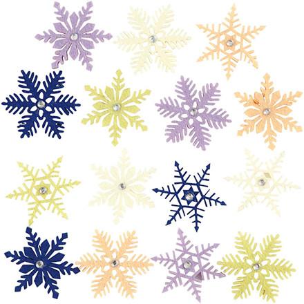 Krystaller med rhinsten, dia. 45 mm, tykkelse 2,5 mm, 12ass.