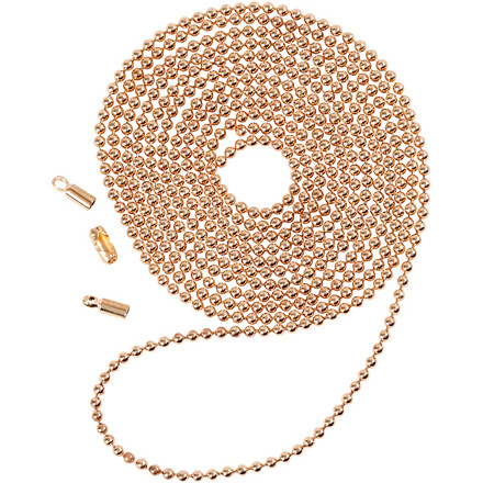 Kuglekæde, dia. 1,5 mm, rosaguld, 1m