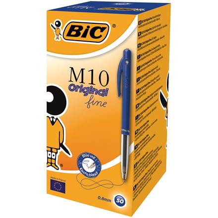 BIC M10 Clic Kuglepen - Blå fine 0,35 mm stregbredde 51600