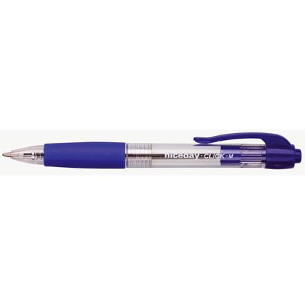 Kuglepen niceday Clic blå medium - 0,5 mm stregbredde 1608113