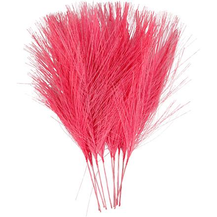Fjer kunstige længde 15 cm bredde 8 cm pink | 10 stk.