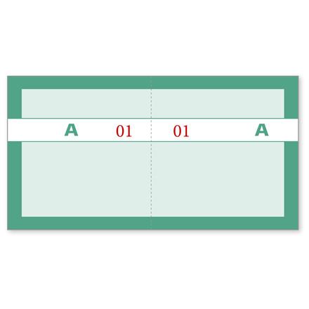 Kuponbog grøn 130 x 70 mm 92220570 - Fra 1 til 100 - 2 x 100 kuponer