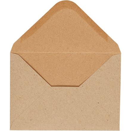 Kuvert, natur, str. 11,5x16 cm, 110 g, 10stk.