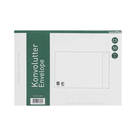 Kuverter C5P 80g Peel & Seal 162x229mm 50stk/pak