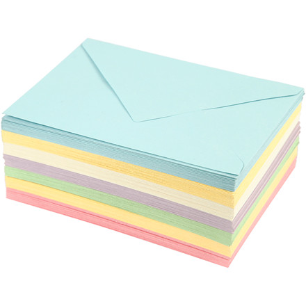 Kuverter, C6 11,5x16 cm, 80 g, 105ass.