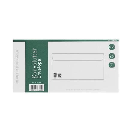 Kuverter M65 70g Peel & Seal 110x220mm 25stk/pak