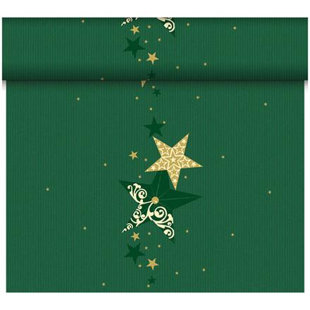 Kuvertløber Dunicel 40 cm x 24 meter Walk of Fame grøn Perforeret - 4 ruller