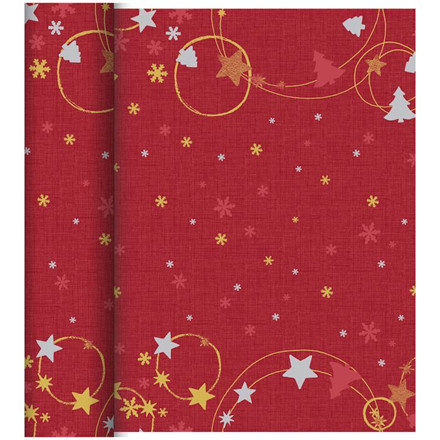 Kuvertløber, Dunicel, Season's joy, Rød juledesign, 0,40m x 24m