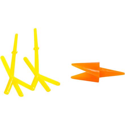 Kyllingenæb og -fødder Længde 30 + 37 mm Højde 28 mm gul orange | 8 sæt