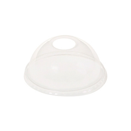 Låg kuppel med hul t/20cl glas PLA 50stk/ps