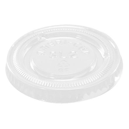 Låg til dressingbæger PS 60 ml (2oz) klar - 100 stk