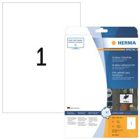 Labels outdoor film white 210x297 HERMA A4 LC 10 pcs.