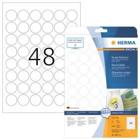 Labels white HERMA Movables Ø 30 A4 1200 pcs.