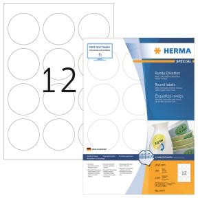 Labels white HERMA Movables Ø 60 A4 1200 pcs.