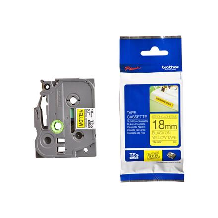 Labeltape Brother TZeS641 18mm sort på gul lammineret