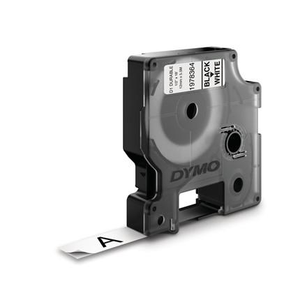 Labeltape Dymo D1 ekstra stærk 12mmx5,5m sort på hvid