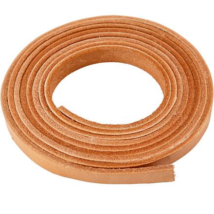 Læderbånd, B: 10 mm, tykkelse 3 mm, natur, 2m