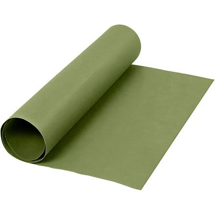 Læderpapir bredde 50 cm tykkelse 0,55 mm grøn | 1 meter