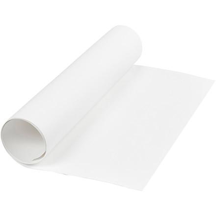 Læderpapir bredde 50 cm tykkelse 0,55 mm hvid | 1 meter