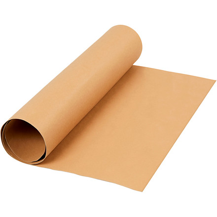 Læderpapir bredde 50 cm tykkelse 0,55 mm lys brun | 1 meter