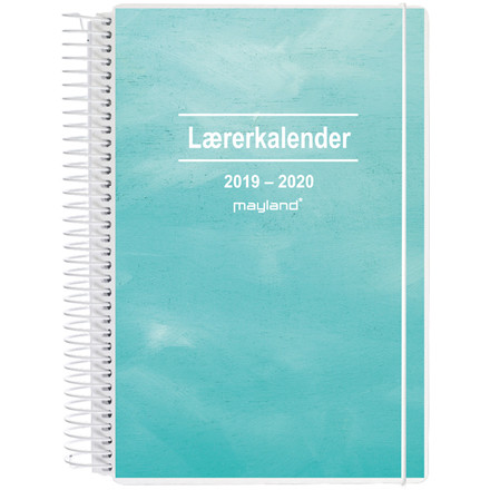 Lærerkalender 19/20 2i1 A5 uge højformat 20 8130 10