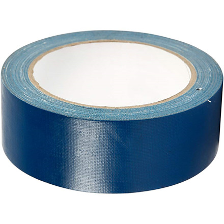 Lærredstape, B: 38 mm, blå, 25m