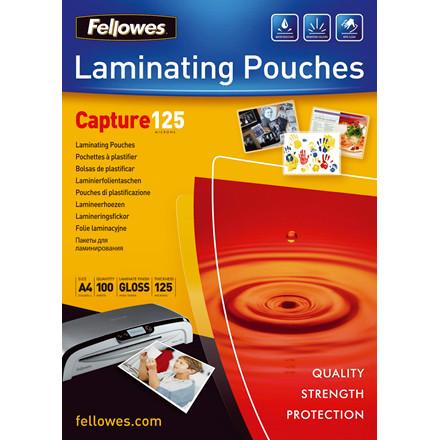 Lamineringsark - Fellowes A4 125 mic glossy - 100 stk