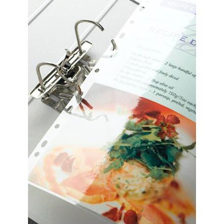 Lamineringslommer - Fellowes A4 med 4 huller 80 mic - 100 stk