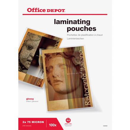 Lamineringslommer - Office Depot A3 blank 75 mic - 100 stk