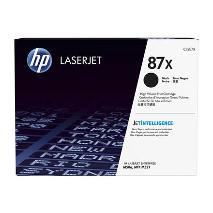 Lasertoner HP CF287X sort HC LaserJet 87X 18K sider