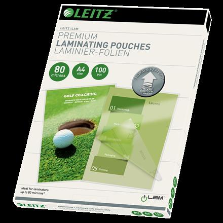 Lamineringslomme A4 UDT glans 80 mic Leitz - 100 stk