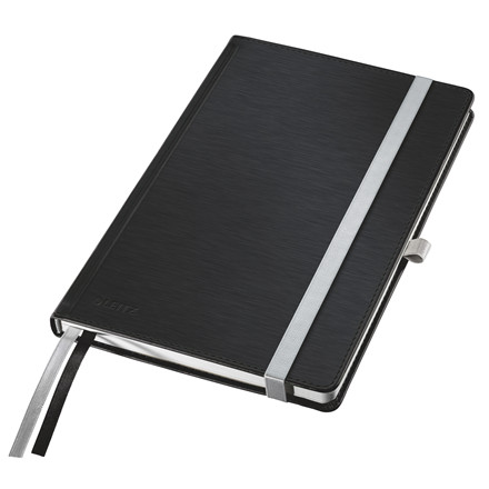 Leitz Notesblok - Style A5 Hard linieret sort - 80 sider