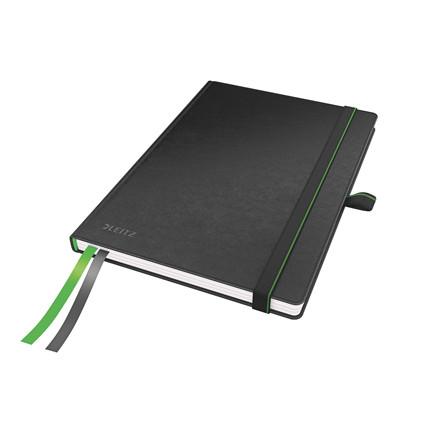 Leitz Notesbog - Complete A5 linieret sort - 80 sider