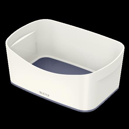 Leitz MyBox opbevaringsbakke Medium 16 x 24,6 x 9,8 cm - hvid/grå