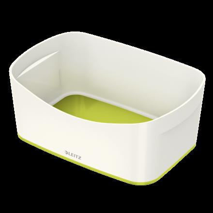 Leitz MyBox opbevaringsbakke Medium 16 x 24,6 x 9,8 cm - hvid/grøn