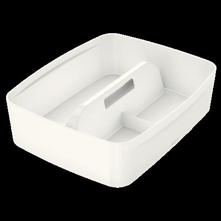 Organiseringsbakke med håndtag Leitz Mybox Large hvid - 30,7 x 37,5 x 10,1 cm