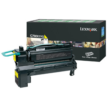 Lexmark C792 toner Yellow HC 20K (return)