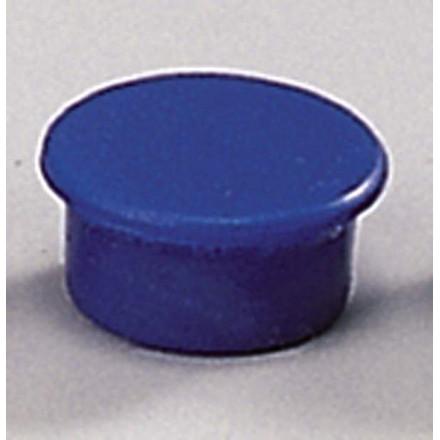 Lille magnet - Dahle 13 mm rund blå - 10 stk.