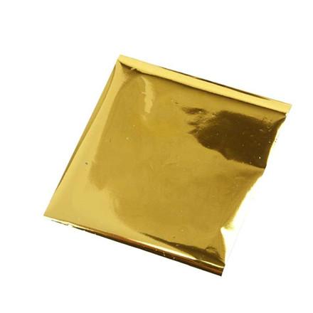 Limfolie, ark 10x10 cm, guld, 30ark
