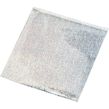 Limfolie, ark 10x10 cm, sølv, 30ark