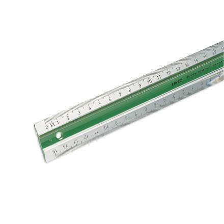 Lineal plast med gummiskinne - LINEX 30 cm S30