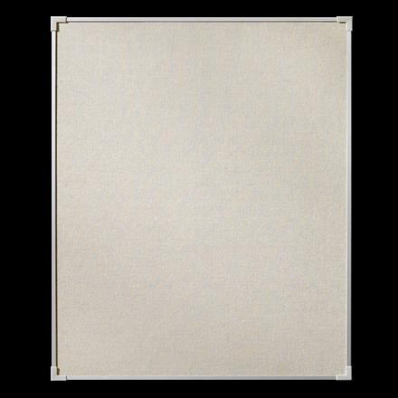 Lintex Boarder opslagstavle med naturstof og aluminiumsramme - 100 x 120 cm
