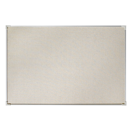 Stor opslagstavle 200 x 120 cm Lintex Boarder - naturstof med aluramme