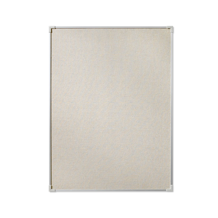 Lille opslagstavle Lintex Boarder 45 x 60 cm - Naturstof med aluramme