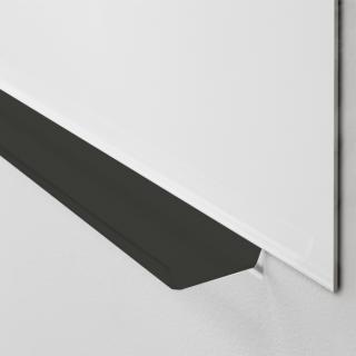 Lintex pennehylde, sort plexiglas, 200mm