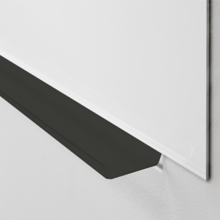 Lintex pennehylde, sort plexiglas, 500mm