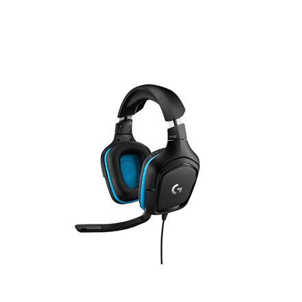 Logitech G432 Gaming Headset Leatherette, Black