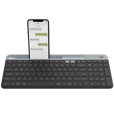 Logitech K580 Slim Multi-Device Wireless Keyboard, Graphite (Nordic)